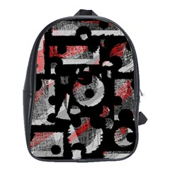 Red Shadows School Bags (xl)  by Valentinaart
