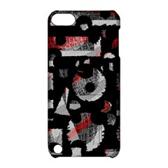 Red Shadows Apple Ipod Touch 5 Hardshell Case With Stand by Valentinaart