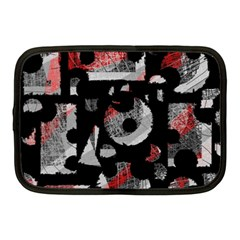 Red Shadows Netbook Case (medium)  by Valentinaart
