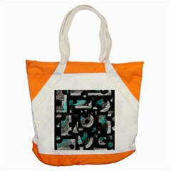 Blue Shadows  Accent Tote Bag by Valentinaart