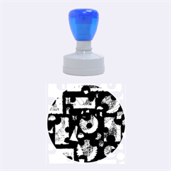 Blue Shadows  Rubber Round Stamps (medium) by Valentinaart