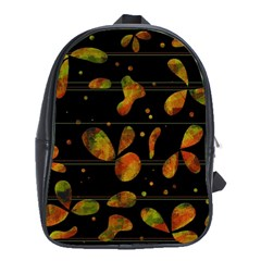 Floral Abstraction School Bags(large)  by Valentinaart