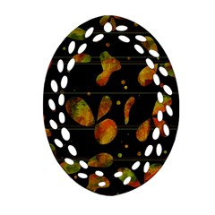 Floral Abstraction Ornament (oval Filigree)  by Valentinaart