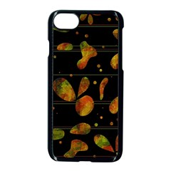 Floral abstraction Apple iPhone 7 Seamless Case (Black)