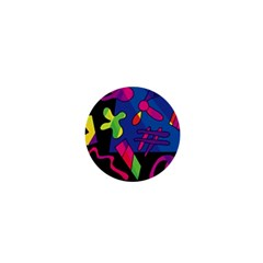 Colorful Shapes 1  Mini Buttons by Valentinaart