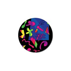 Colorful Shapes Golf Ball Marker (4 Pack) by Valentinaart