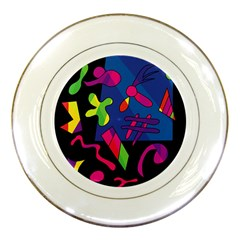 Colorful Shapes Porcelain Plates by Valentinaart