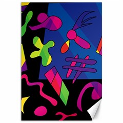 Colorful Shapes Canvas 12  X 18   by Valentinaart