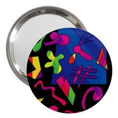 Colorful shapes 3  Handbag Mirrors by Valentinaart