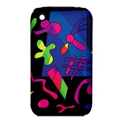 Colorful Shapes Apple Iphone 3g/3gs Hardshell Case (pc+silicone) by Valentinaart
