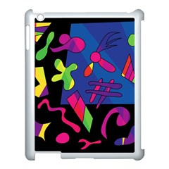 Colorful Shapes Apple Ipad 3/4 Case (white) by Valentinaart