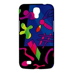 Colorful Shapes Samsung Galaxy Mega 6 3  I9200 Hardshell Case by Valentinaart