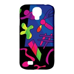 Colorful Shapes Samsung Galaxy S4 Classic Hardshell Case (pc+silicone) by Valentinaart
