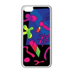 Colorful Shapes Apple Iphone 5c Seamless Case (white) by Valentinaart