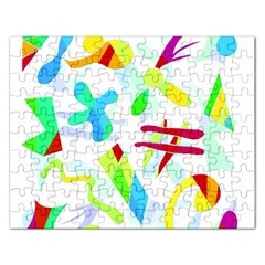 Playful Shapes Rectangular Jigsaw Puzzl by Valentinaart