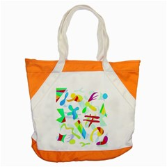 Playful Shapes Accent Tote Bag by Valentinaart