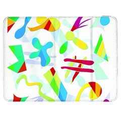Playful Shapes Samsung Galaxy Tab 7  P1000 Flip Case by Valentinaart