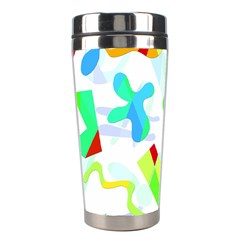 Playful Shapes Stainless Steel Travel Tumblers by Valentinaart