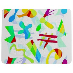 Playful Shapes Jigsaw Puzzle Photo Stand (rectangular) by Valentinaart