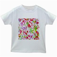 Summer Kids White T Shirts by Valentinaart
