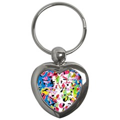 Colorful Pother Key Chains (heart)  by Valentinaart