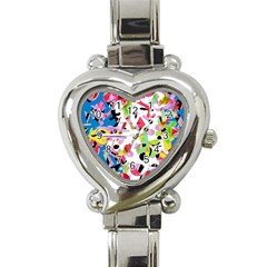 Colorful Pother Heart Italian Charm Watch by Valentinaart