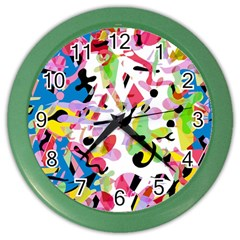 Colorful Pother Color Wall Clocks by Valentinaart
