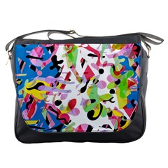Colorful Pother Messenger Bags by Valentinaart