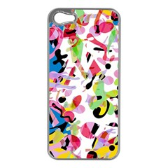 Colorful Pother Apple Iphone 5 Case (silver) by Valentinaart