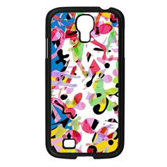 Colorful Pother Samsung Galaxy S4 I9500/ I9505 Case (black) by Valentinaart