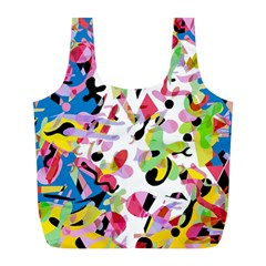 Colorful Pother Full Print Recycle Bags (l)  by Valentinaart