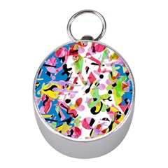 Colorful Pother Mini Silver Compasses by Valentinaart