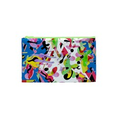 Colorful Pother Cosmetic Bag (xs) by Valentinaart