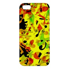 Fire Apple Iphone 5 Premium Hardshell Case by Valentinaart