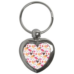 Colorful Cute Hearts Pattern Key Chains (heart)  by TastefulDesigns