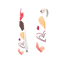 Colorful Cute Hearts Pattern Neckties (two Side)  by TastefulDesigns