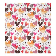 Colorful Cute Hearts Pattern Shower Curtain 66  X 72  (large)  by TastefulDesigns