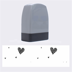 Colorful Cute Hearts Pattern Name Stamps by TastefulDesigns