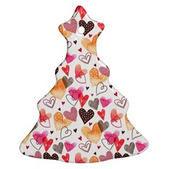 Colorful Cute Hearts Pattern Ornament (christmas Tree)