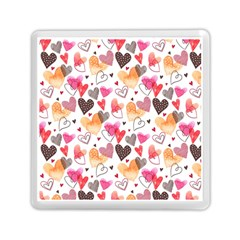 Colorful Cute Hearts Pattern Memory Card Reader (square)  by TastefulDesigns
