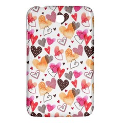 Colorful Cute Hearts Pattern Samsung Galaxy Tab 3 (7 ) P3200 Hardshell Case  by TastefulDesigns