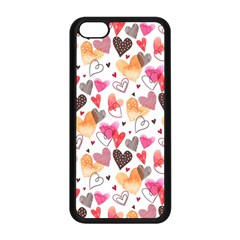 Colorful Cute Hearts Pattern Apple Iphone 5c Seamless Case (black) by TastefulDesigns