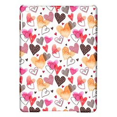 Colorful Cute Hearts Pattern Ipad Air Hardshell Cases by TastefulDesigns