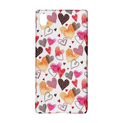 Colorful Cute Hearts Pattern Sony Xperia Z3+ by TastefulDesigns