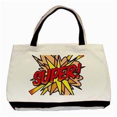 Comic Book Super! Basic Tote Bag by ComicBookPOP