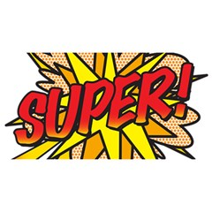 Comic Book Super! You Are Invited 3d Greeting Card (8x4) by ComicBookPOP