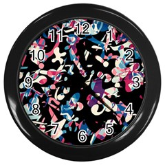 Creative Chaos Wall Clocks (black) by Valentinaart