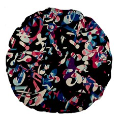Creative Chaos Large 18  Premium Flano Round Cushions by Valentinaart
