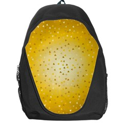 Gold Hearts Pattern Backpack Bag by theimagezone