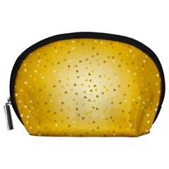 Gold Hearts Pattern Accessory Pouches (large)  by theimagezone